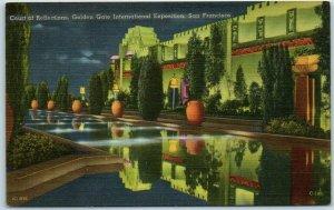 1939 GGIE EXPO San Francisco Postcard Court of Reflections Crocker Linen