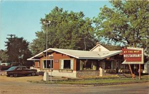 Gaylord Michigan~By The Way Restaurant on M-32 Road~70s Car & Truck~Postcard