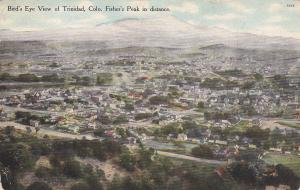 TRINIDAD, Colorado, PU-1909; Fisher's Peak In Distance, Birdseye View Of Trindad