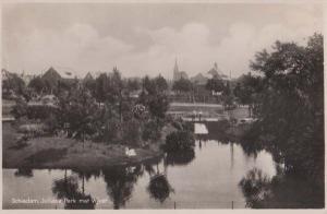 Schiedam Juliana Park Real Photo Dutch Holland Postcard