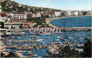Modern Postcard Cannes Boat Harbor and the Croisette