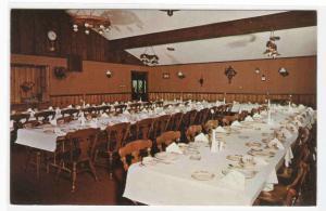 Finger's Restaurant Banquet Room Interior Grand Rapids Michigan postcard
