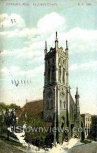St. John's Church Detroit MI 1909 Missing Stamp