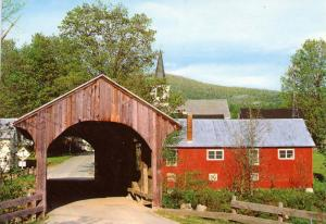 VT - Waterville. Old Covered Bridge Spanning Kelly River (Vermont)