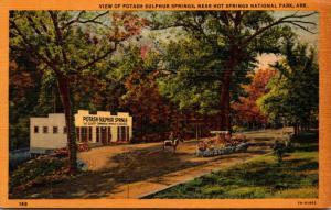 Arkansas Hot Springs View Of Potash Sulphur Springs Curteich