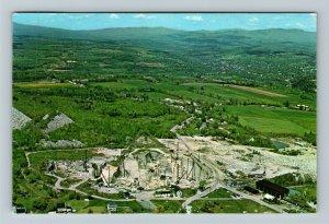 Barre VT-Vermont, Aerial View Wells-Lamson Granite Quarry, Chrome c1967 Postcard