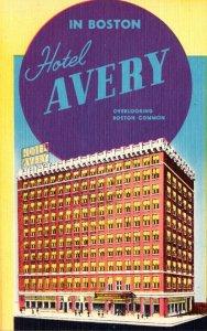 Massachusetts Boston Hotel Avery