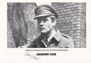Anthony Andrews Danger UXB Facimile Signed Vintage Cast Card