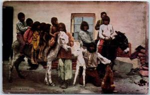 Native Americana H.H. TAMMEN Postcard A Pueblo Indian Family c1910s Unused