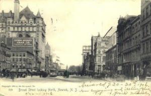Broad Street Newark NJ 1906