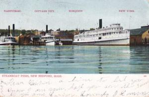 Steamer Maine at Steamboat Piers - New Bedford MA, Massachusetts - pm 1906 - UDB