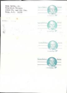 US used Pre-stamped Postcards UX70 Caesar Rodney, Patriot