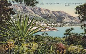 Monaco Monte Carlo Vue prsie des Jardins du Rocher