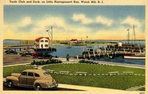 RI - Watch Hill. Yacht Club & Dock, Little Narragansett Bay