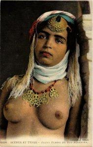 PC CPA Jeune femme Scenes et Types North Africa FEMALE ETHNIC NUDE (a10263)