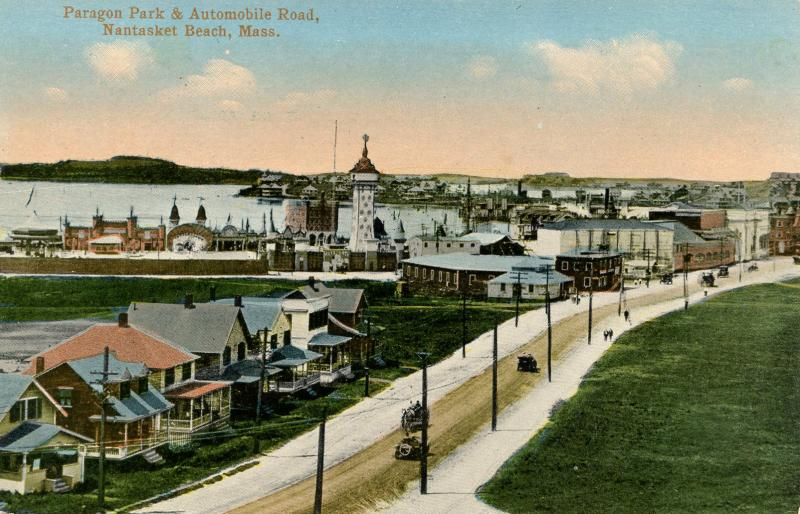 MA - Nantasket Beach. Paragon Park and Automobile Road