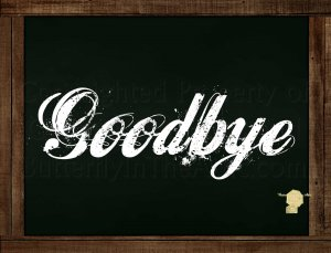 Set of 6  Postcards Blackboard Greetings - Goodbye - Simple Expressions