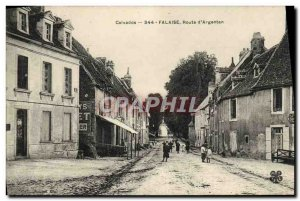 Old Postcard Cliff Road to Argentan
