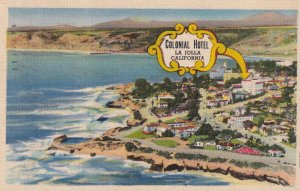 LA JOLLA, California, PU-1960; Colonial Hotel Overloking The Ocean, Aerial View