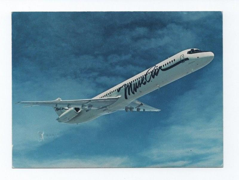 Rare 1980years POSTCARD AIRLINE ISSUED MUSE AIR airplane DC-9 AIRCRAFT AIRPLANES
