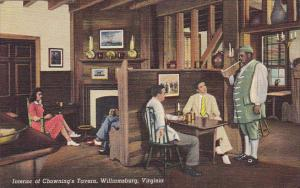 Interior Of Chowning's Tavern Williamsburg Virginia Curteich