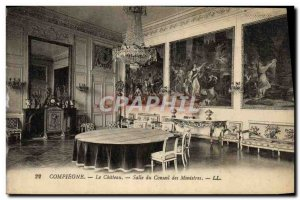 Old Postcard Compiegne Chateau Room From Cabinet