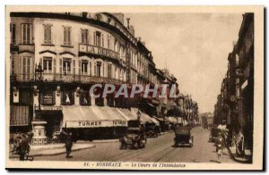 Bordeaux - The Course of & # 39Intendance Tunmer Depeche - Old Postcard
