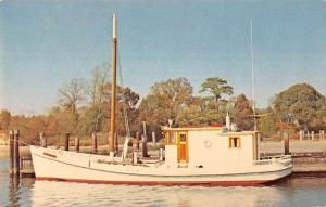 Onancock Virginia Greetings From local fishing boat vintage pc ZA440623