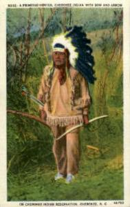 Cherokee Indian Reservation, Cherokee, NC, USA Indian, Indians, Postcard Post...
