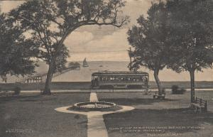 BILOXI , Mississippi , 1912 ; Gulf of Mexico and Beach Front, Trolley