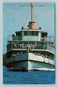 Lake Winnipesaukee NH- New Hampshire, The Motor Vessel, Chrome Postcard
