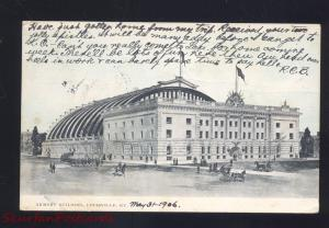LOUISVILLE KENTUCKY NATIONAL GUARD ARMORY ANTIQUE VINTAGE POSTCARD KY. 1906