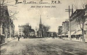 New Britain CT Main St. at Central Park c1910 Postcard