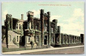 Scranton Pennsylvania~Lackawanna County Jail~Ivy Covered Front~1910