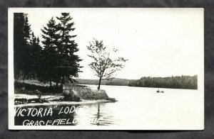 dc197 - GRACEFIELD Quebec 1930s Victoria Lodge Real Photo Postcard