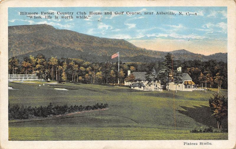 Asheville NC~Biltmore Forest Country Club~Tennis CT~Golf Course~#12 Fairway~1916