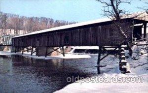 Harpersfield, Ohio Ashtabula County, Ohio, USA Covered Bridge Unused