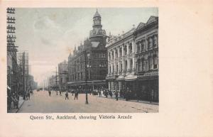 Queen Street, Auckland, New Zealand, Victoria Arcade, Early Postcard, Unused