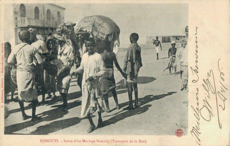 Africa Djibouti Scene d´un Mariage Somalis Transport de la Dot 03.74