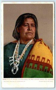 GANADO, AZ  ELLE of GANADO~ Best NAVAJO WEAVER 1906 Fred Harvey  Postcard