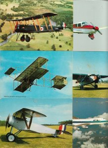 Aviation AVRO 504 K 1913, Boeing 747-258C and more Postcard Lot of 34 BS.01