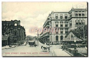 Old Postcard From The Jetty York Street Colombo
