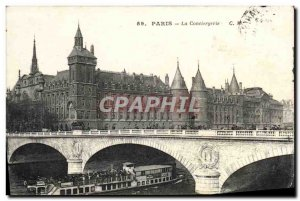 Old Postcard Paris La Conciergerie boat Peniche
