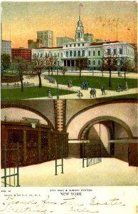 NY - New York City. City Hall & Subway Station