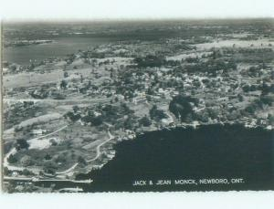 1950's rppc NICE VIEW Newboro - Between Kingston & Smiths Falls Ontario ON W0934