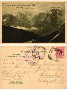 CPA Lago di Misurina coll' Antelao da Monte Piano. ITALY (395229)