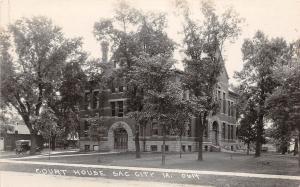 B43/ Sac City Iowa Ia Real Photo RPPC Postcard c1920 Court House