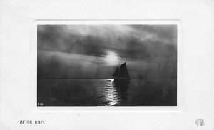 After rain Sailboat on the ocean R.P.O., Rail Post Offices PU 1907