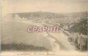 Postcard Old Etretat General view