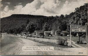 Cumberland Mountain TN~Martin Springs Tourist Camp~Drive In Cabins~1940 B&W PC